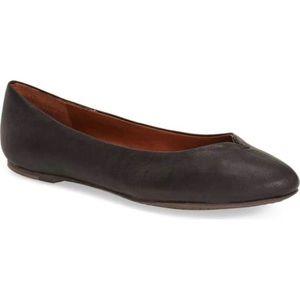 Lucky Brand Finorah Black Leather Ballet Flats 8